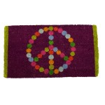 """PEACE"" Emblem Multi-Coloured Doormat"