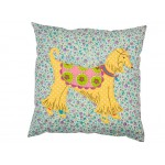 Square Cushion Cover With Hippie Dog Application