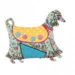Hippie Dog Mini Zip Up Coin Purse In Assorted Colours