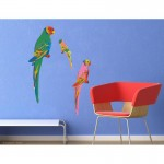 Parrots Wall Art Stickers