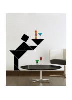 Origami Waiter Wall Art Sticker