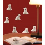 Mini Westie Dogs Fun Wall Art Stickers