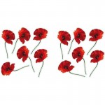 Bright Red Poppies Wall Art Stickers
