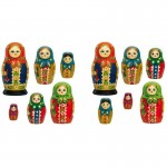 Mini Russian Dolls Wall Art Stickers