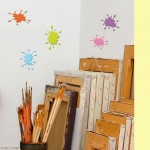 Fun Paint Splats Wall Art Stickers
