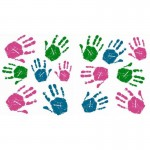 Kids Handprint Fun Wall Art Stickers