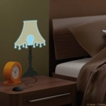 Light Up Bedside Lamp Wall Art Sticker