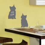 Silhouette Cats Chalkboards Wall Art Stickers