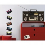 Ghetto Blaster Wall Art Sticker