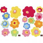 Multi-coloured Flowers Wall Art Stickers
