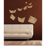 Paperboat Origami Wall Art Stickers