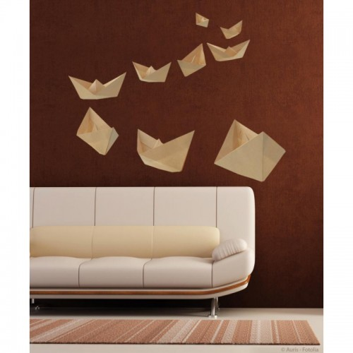 paperboat origami wall art stickers. Black Bedroom Furniture Sets. Home Design Ideas
