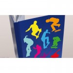 Multi-coloured Skater Wall Art Stickers